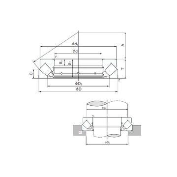 K81208TN SKF Roulements à rouleaux de poussée