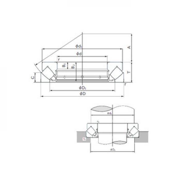 CRBS 1008 A UU IKO Roulements à rouleaux de poussée