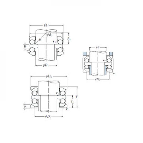 MT2.1/2 RHP Roulements à billes de poussée