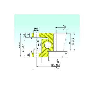 53205 CX Roulements à billes de poussée