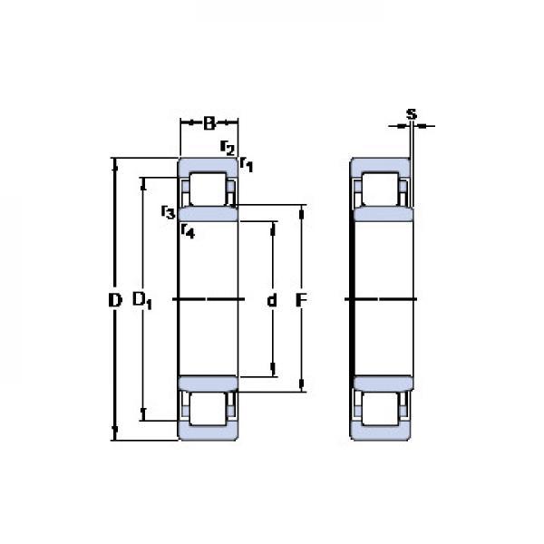 NUP 209 ECPH SKF Roulements à billes de poussée