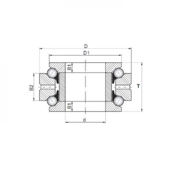 53307U+U307 ISO Roulements à billes de poussée